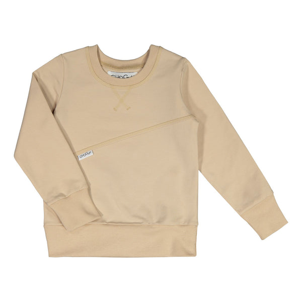 gugguu Outlet Mono Sweatshirt Hoodies and sweatshirts Vanilla Coffee 80