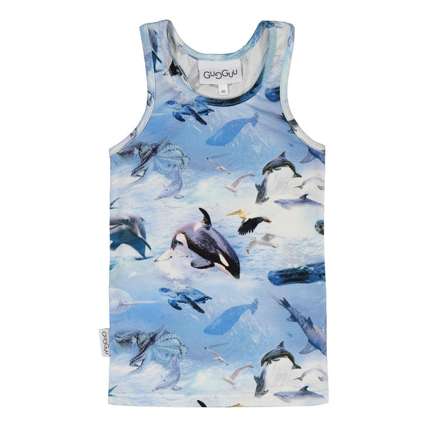 gugguu Outlet Print Unisex Top Shirts Sea Life 80