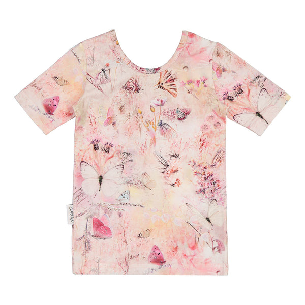 gugguu Print Bluebell Shirt Shirts Coral Butterfly 80