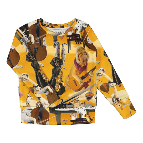 gugguu Print College Sweatshirt Hoodies and sweatshirts Jazz Dogs 80