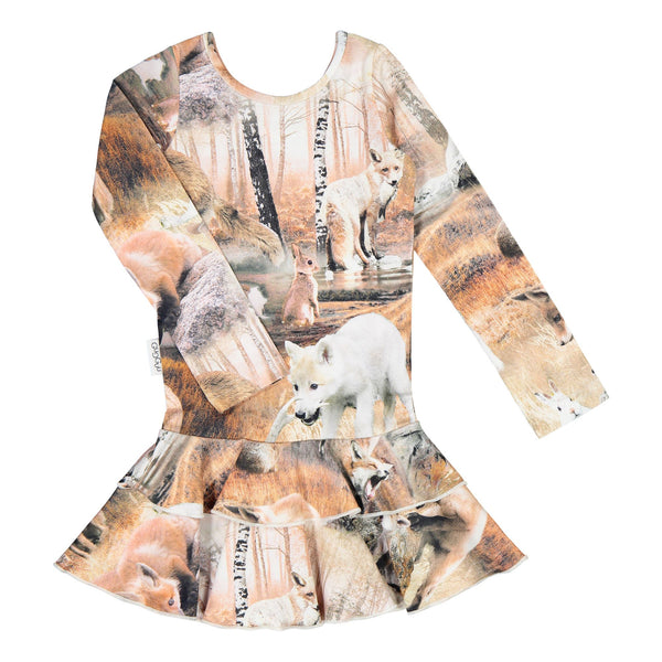 gugguu Print Frilla Dress Dresses Dancing Foxes 62