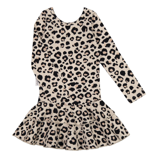 gugguu Print Frilla Dress Dresses Ginger Leopard 74
