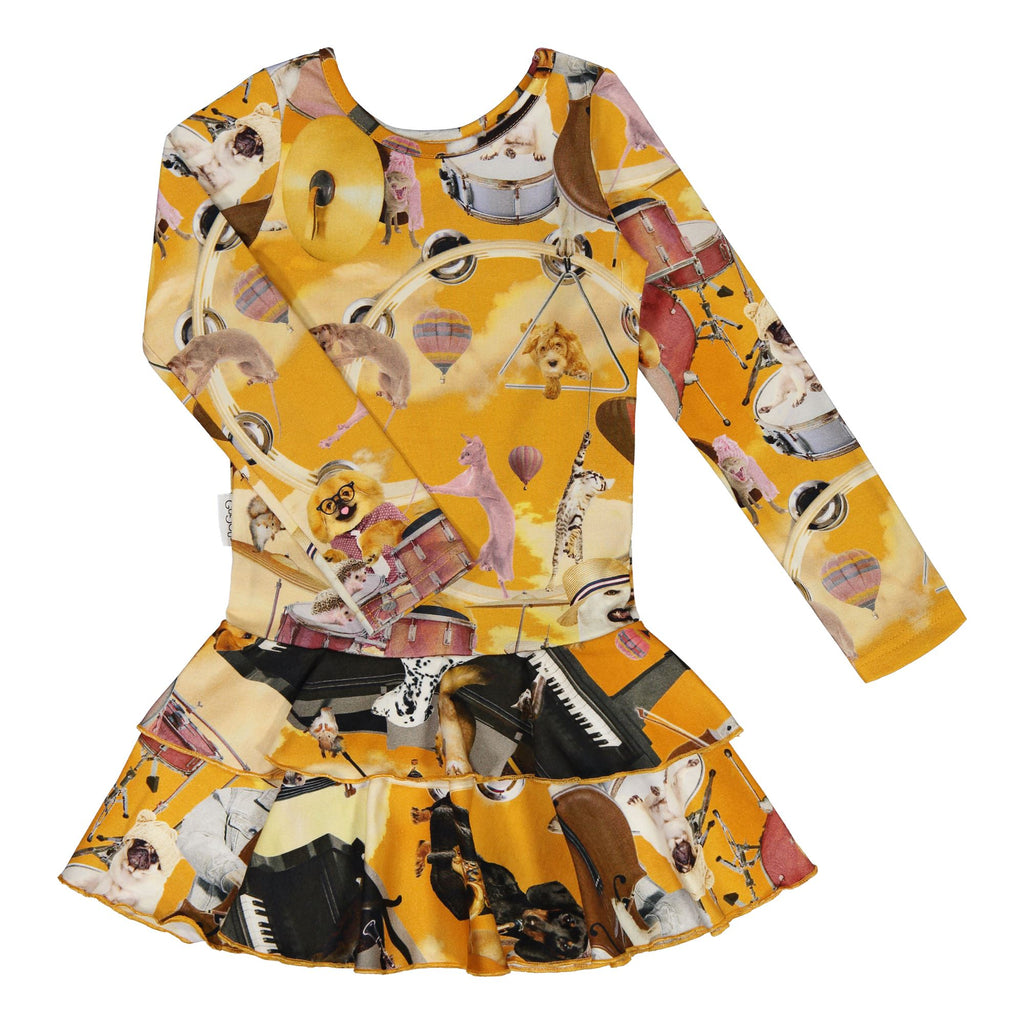 gugguu Print Frilla Dress Dresses Jazz Dogs 80