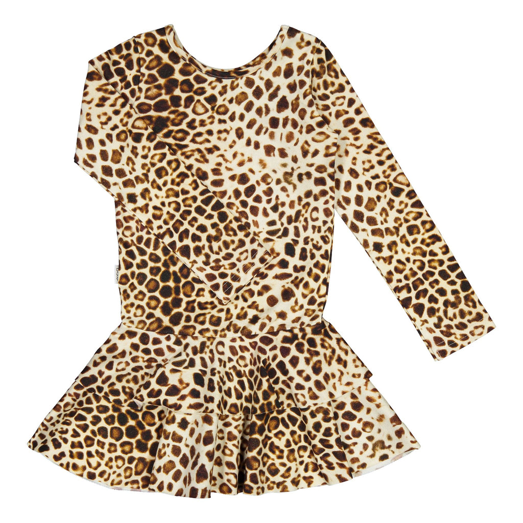 gugguu Print Frilla Dress Dresses Latte Leopard Dots 74