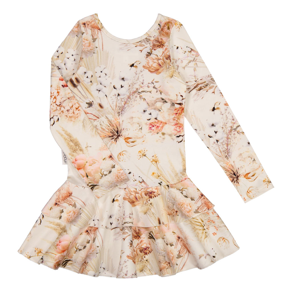 gugguu Print Frilla Dress Dresses Natural Flower 74