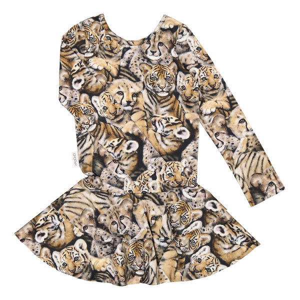 gugguu Print Frilla Dress Dresses Noble Cats 62/0-3M