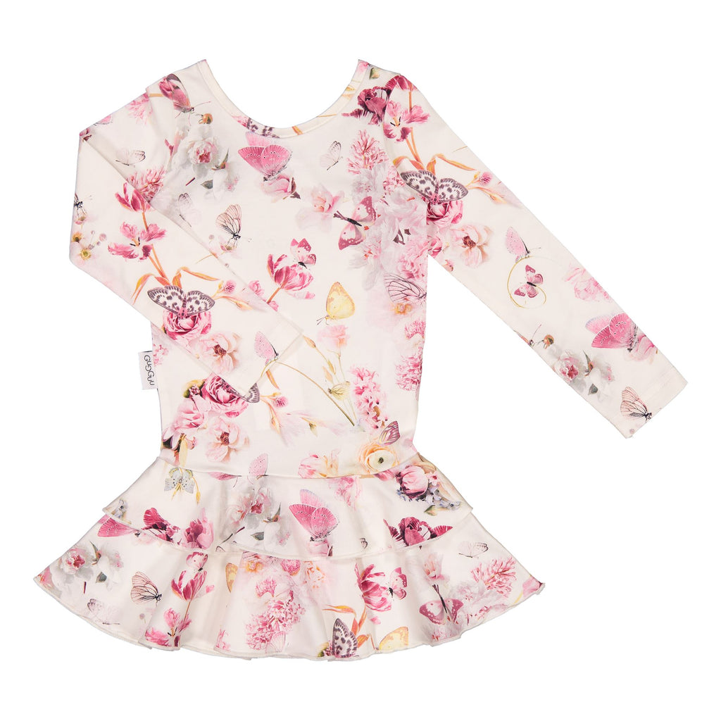 gugguu Print Frilla Dress Dresses Romance Butterfly 74