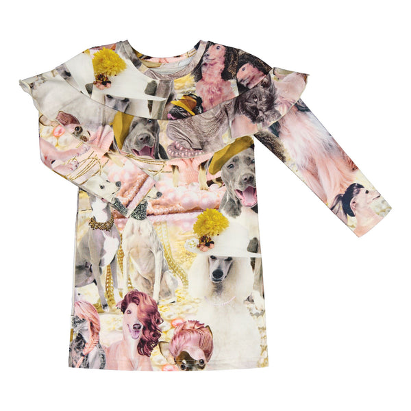 gugguu Print Kaila Dress Dresses Parisian Dogs 80