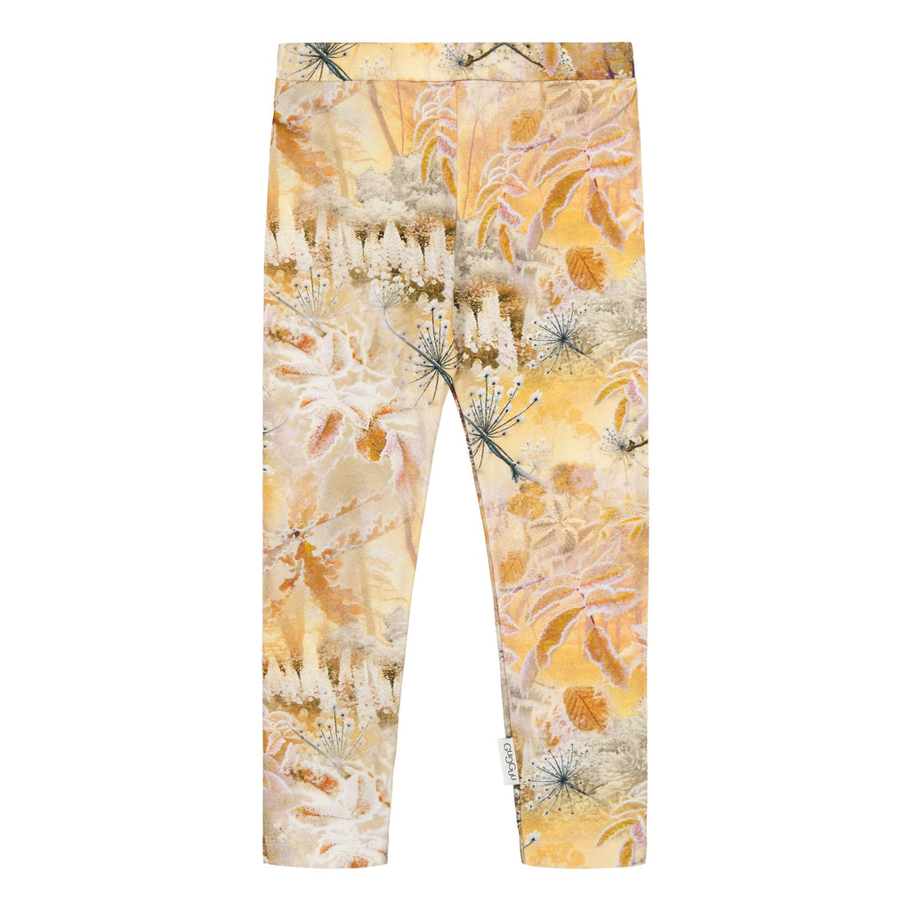 gugguu Print Leggings Leggings Frozen Flower 80