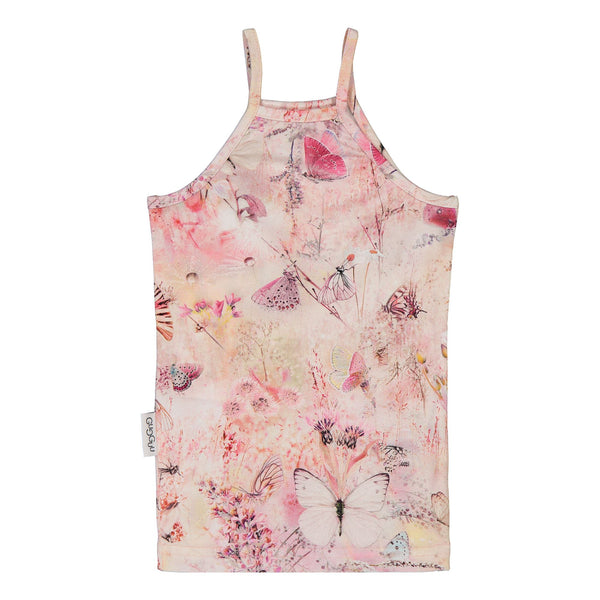 gugguu Print Spaget Top Shirts Coral Butterfly 80