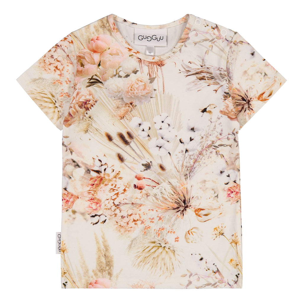gugguu Print T-Shirt Shirts Natural Flower 80