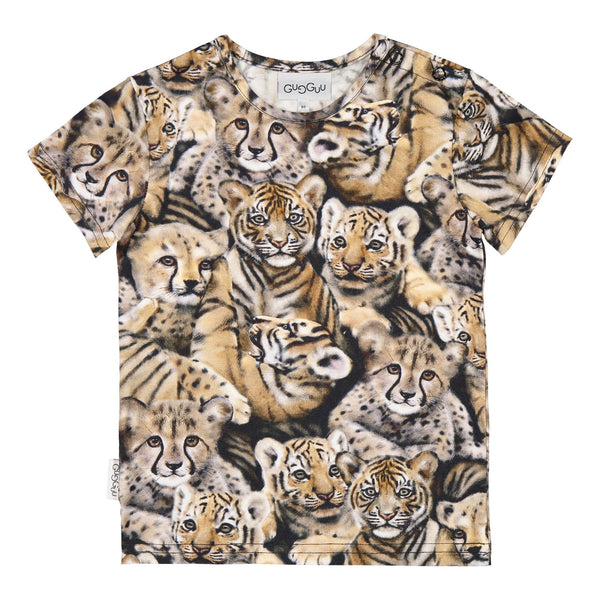 gugguu Print T-shirt Shirts Noble Cats 80/1Y