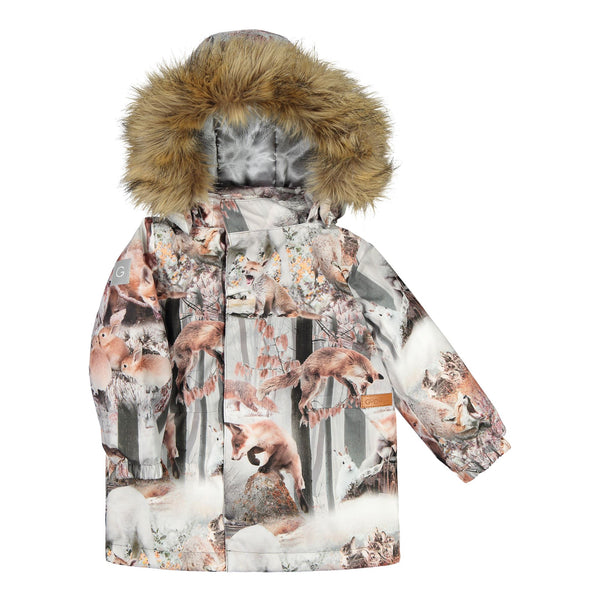 gugguu Print Winter Jacket Outerwear Dancing Foxes 80 / 1Y