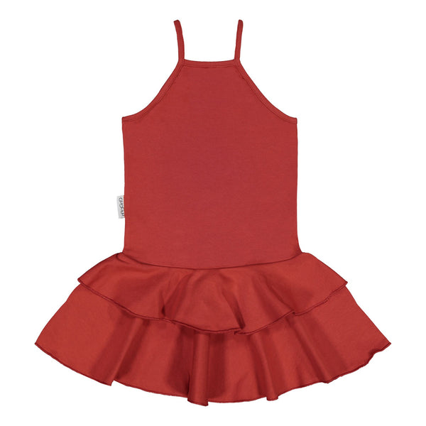 gugguu Spaget Dress Dresses Spicy red 74/7-9M