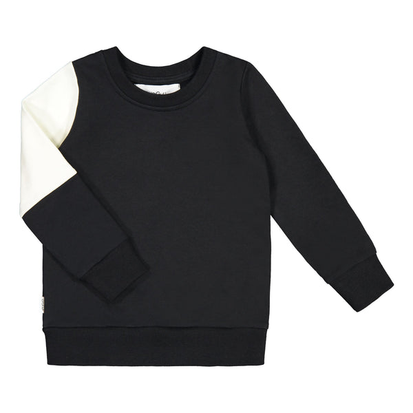 gugguu Triple Sweatshirt Hoodies and sweatshirts Black/ Pearl White/ Black 80