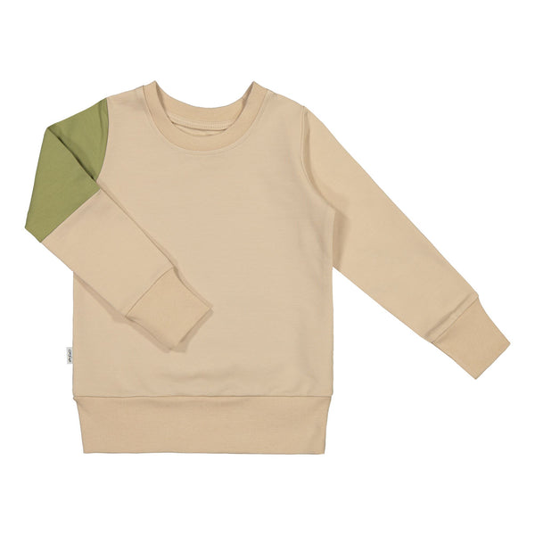 gugguu Triple Sweatshirt Hoodies and sweatshirts Vanilla Coffee/ Sage Green/ Vanilla Coffee 80