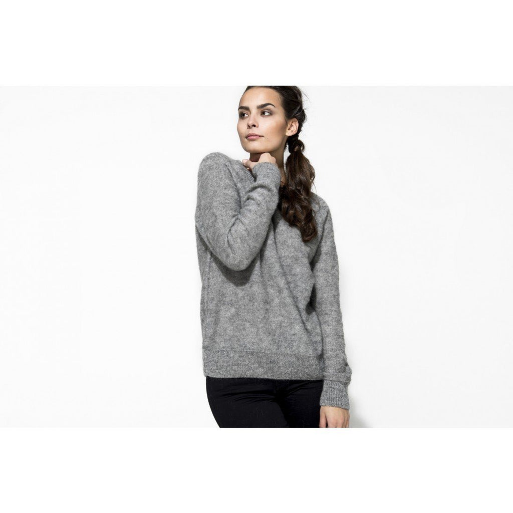 gugguu Women's Mohair jumper Mohair Grey XL