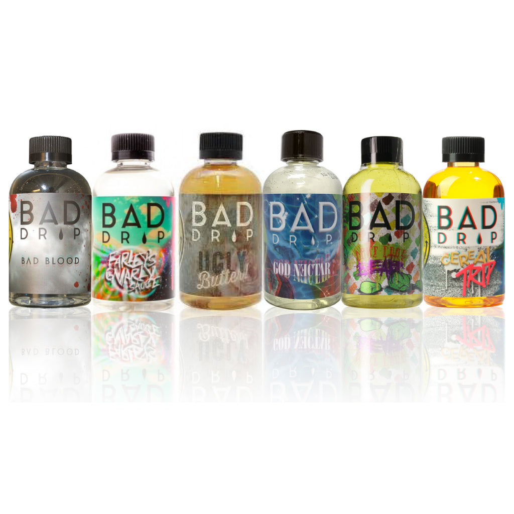 2-Pack Bad Drip Collection 120ML Vape Juice - Farley's Gnarly Sauce| Ugly Butter| God Nectar