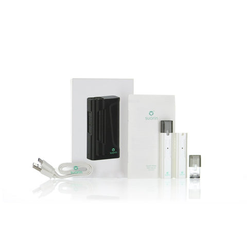Suorin iShare Twin Pod Device Kit with Powerbank-Ultra-Portable System-White-DrippiVapes