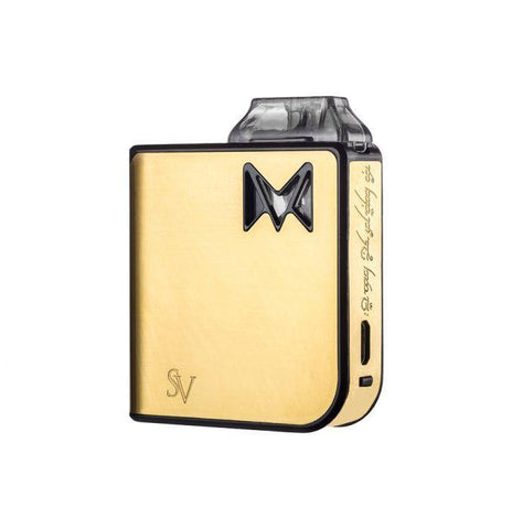Smoking Vapor Mi-Pod Pod Device Kit-Ultra-Portable System-Gold Metal-DrippiVapes