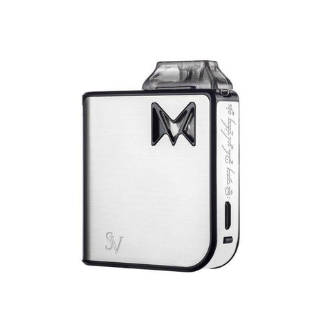 Smoking Vapor Mi-Pod Pod Device Kit-Ultra-Portable System-Silver Metal-DrippiVapes