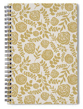 Load image into Gallery viewer, Gold Floral Pattern - Spiral Notebook