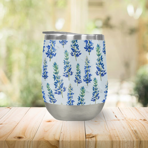 Blue Bonnet Stemless Wine Tumblers