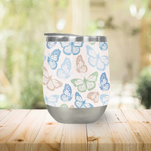 Load image into Gallery viewer, Blue Butterfly Stemless Wine Tumblers