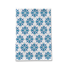 Load image into Gallery viewer, Blue Watercolor Tile Tea Towel