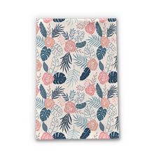 Load image into Gallery viewer, Blue and Blush Tropical Floral Tea Towel