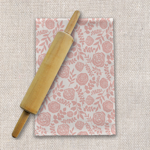 Blush Floral Pattern Tea Towel