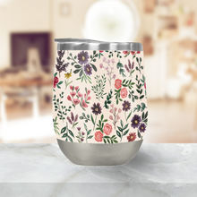 Load image into Gallery viewer, Bright Watercolor Flower Stemless Wine Tumbler