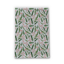 Load image into Gallery viewer, Christmas Branch Pattern Tea Towel