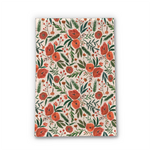 Load image into Gallery viewer, Christmas Floral Tea Towel