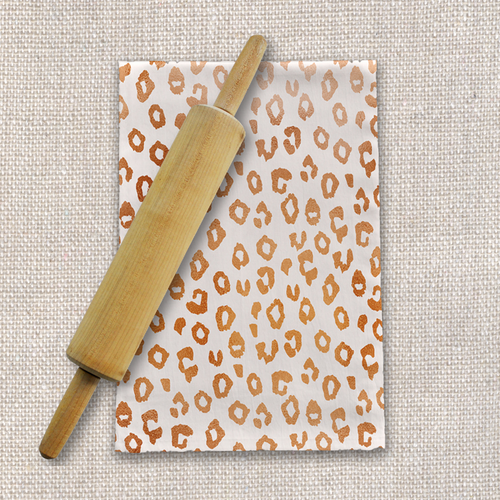 Copper Leopard Print Tea Towels