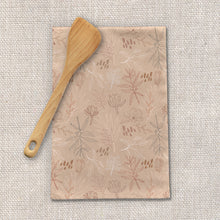 Load image into Gallery viewer, Desert Leaf Pattern Tea Towels