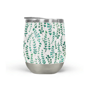 Eucalyptus Watercolor Stemless Wine Tumbler