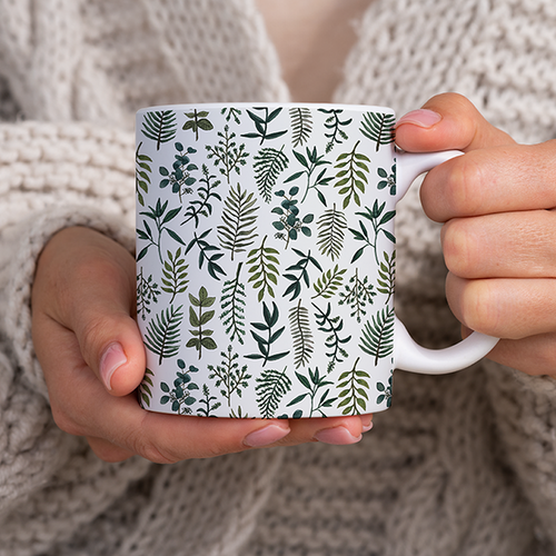 Fern Watercolor Pattern - Mug