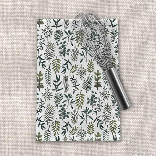 Fern Watercolor Tea Towel