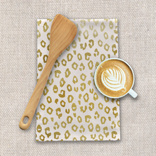 Load image into Gallery viewer, Gold Leopard Print Tea Towels
