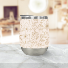 Load image into Gallery viewer, Gold Magnolia Stemless Wine Tumblers