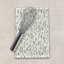 Load image into Gallery viewer, Green Falling Leaves Tea Towels