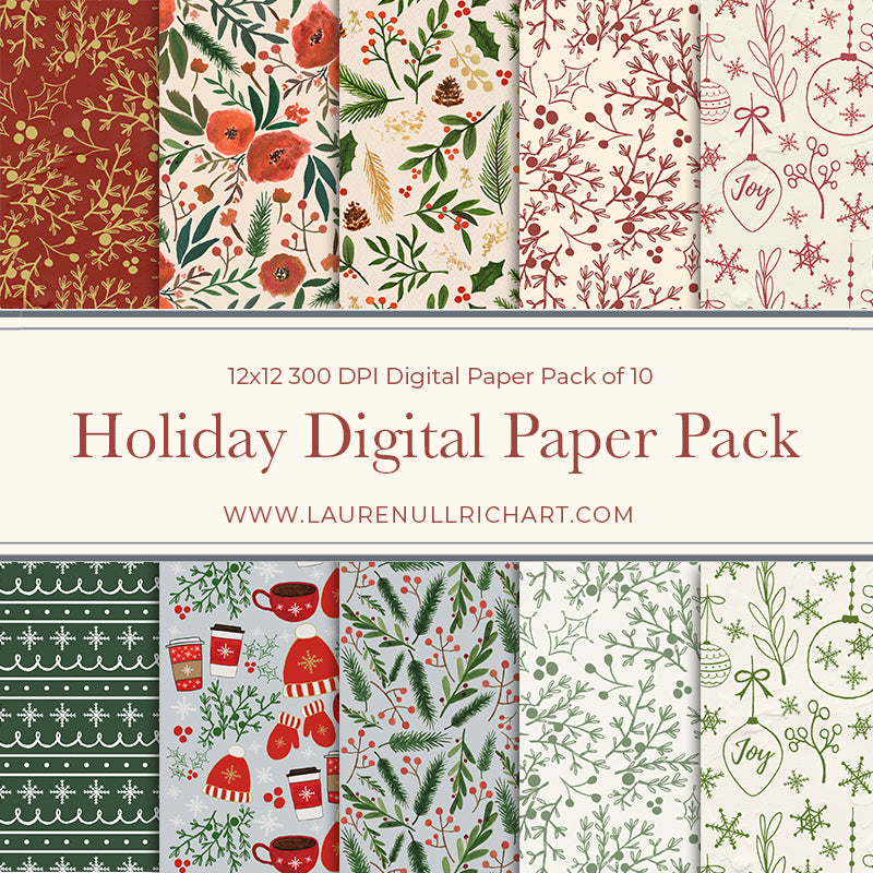 Holiday Digital Paper Pack