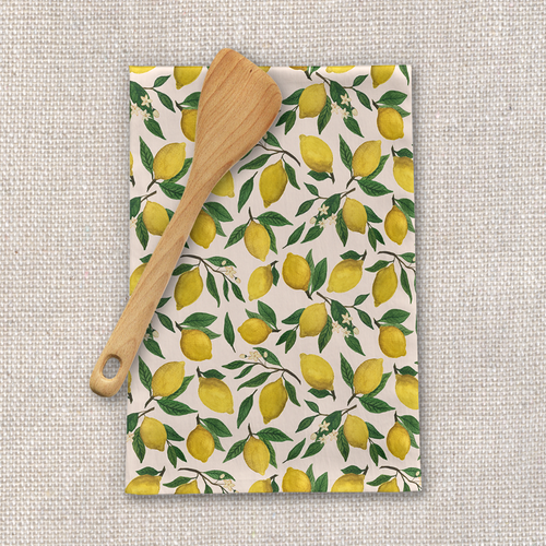 Lemon Blossom Tea Towel