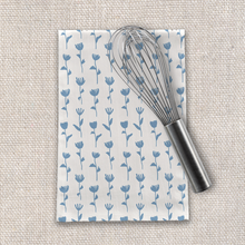 Load image into Gallery viewer, Light Blue Flower Tea Towel