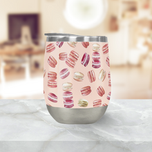 Load image into Gallery viewer, Macaron Pattern Stemless Wine Tumblers