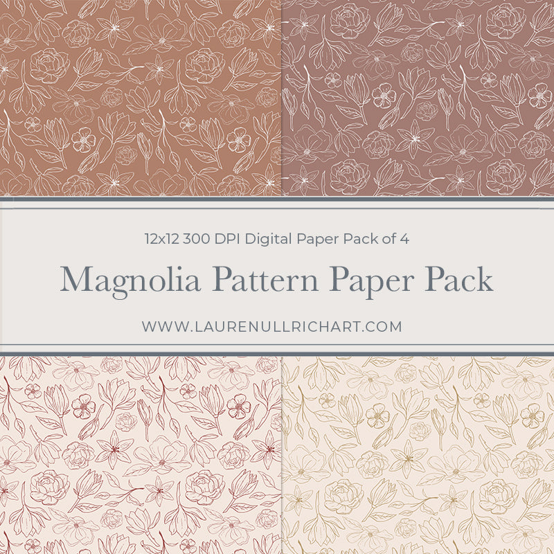 Magnolia Digital Paper Pack