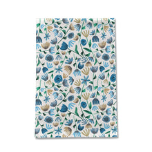 Load image into Gallery viewer, Blue Floral Tea Towel