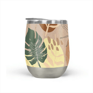 Orange Terracotta Stemless Wine Tumblers