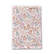 Load image into Gallery viewer, Orange and Pink Butterfly Tea Towel